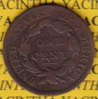 @Y@  USA 1 Large Cent 1817 Coronet Head (2579) 13 Stars - Monnaies