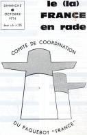 Paquebot  France Journal De Greve Pages Ecrites Du 06 10 1974 - Boats