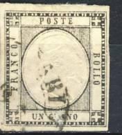 Prov Napoletane, 1861, Sassone N. 19 Nero, 1 Grano Usato Cat € 60 - 1861-78 Vittorio Emanuele II
