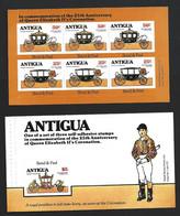 Antigua 1978 QEII Coronation Anniversary Booklet Panes Set (2) - Antigua & Barbuda (...-1981)