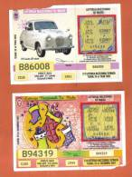 MALTA - 2  LOTTERY TICKETS FROM MALTA /  2001/2 - Lottery Tickets