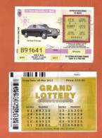 MALTA - 2  LOTTERY TICKETS FROM MALTA /  2002 / 13 - Lotterielose