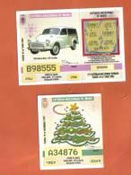 MALTA - 2  LOTTERY TICKETS FROM MALTA /  1999/2 - Lottery Tickets