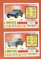 MALTA - 2  LOTTERY TICKETS FROM MALTA /  2003 - Lottery Tickets