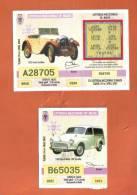 MALTA - 2  LOTTERY TICKETS FROM MALTA /  2002 - Billets De Loterie