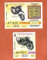 MALTA - 2  LOTTERY TICKETS FROM MALTA /  2001 - Lottery Tickets