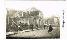 "Photo Carte ""Wareghem / Waregem - Rue Principale"" Ruines - Waregem"