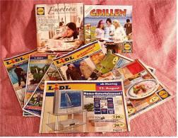 9 X Lidl Präsentiert  2006 / 2007 Reklame Prospekte  - Insgesammt  Ca. 180 Seiten - Reklame