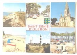 SAINT DENIS D'OLERON ROUTE DE LA PLAGE EGLISE PHARE CAMPING VOITURES DS MERCEDES - Ile D'Oléron