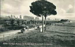 Roma - Via Appia Nuova Con Ruderi Degli Acquedotti Di Claudio - Roma