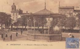 CPA - Rochefort Sur Mer - Le Kiosque à Musique Et L'église - Rochefort