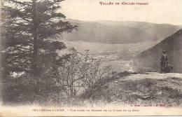 88 CELLES SUR PLAINE 1910 ? VUE PRISE SOMMET DE LA ROCHE DE LA SOYE ANIMEE ED WEICK ROUSSEURS - Frankrijk
