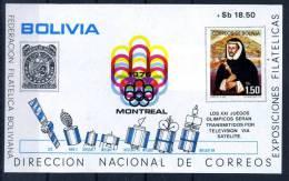 BOLIVIE-JO MONTREAL-INTELSAT-MI B71***MNH - Zomer 1976: Montreal