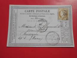 C8.carte  Avec N°55  A Identifié  ,plus Cachet Perlée De Boissezon(rare !!),  Verso Castres-s-l'agout - 1871-1875 Ceres
