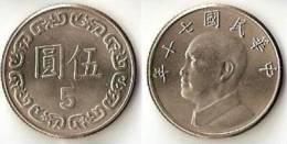 Taiwan  5 Yuan Y#552 - Taiwan