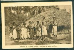 Mission De Ceylan - Série X - Une Famille De Pariahs Catholiques Uq90 - Sri Lanka (Ceylon)