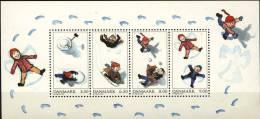 #Denmark 2009. Children Playing In Snow. Michel Bl.37. MNH(**) - Blocchi & Foglietti