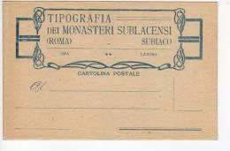 ^ SUBIACO ROMA TIPOGRAFIA DEI MONASTERI SUBLACENSI CASTIGLIONE DELLE STIVIERE COLLEGIO CARTOLINA POSTALE  T - Unclassified