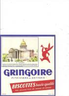 Buvard Biscottes Gringoire  Pantheon - Biscottes