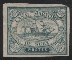 CANAL DE SUEZ 1868 - Yvert #3 - MLH * - 1866-1914 Khedivato De Egipto