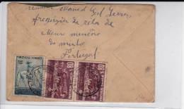 PORTUGAL - 1942 - ENVELOPPE Pour AURILLAC - Poststempel (Marcophilie)