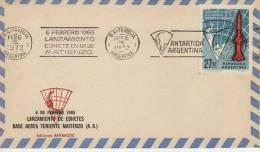 LANZAMIENTO COHETE EN BASE MATIENZO   MATASELLO   ANTARTIDA ARGENTINA  OHL - Filatelia Polar