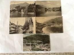 5 CARTOLINE OMEGNA DEL 1911 DI CUI TRE VIAGGIATE IN BUONO STATO - Verbania