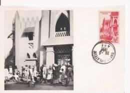 LE MARCHE DE BAMAKO SOUDAN FRANCAIS 346 (CARTE MAXIMUM PUBLICITAIRE IONYL LABOS LA BIOMARIEN DIEPPE ) 1952 - Mali
