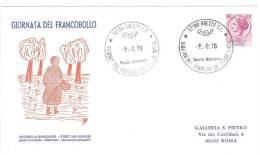 MARCOFILIA - ANNULLO SPECIALE SU FDC - GIOSTRA DEL SARACINO 98° FIERA  ANNO 1976 - AREZZO - 6. 1946-.. Repubblica