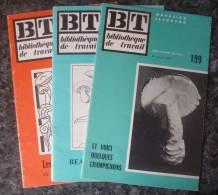 LES CHAMPIGNONS.LOT DE 3 BT.1951 ET 1952.TBE. - Ciencia
