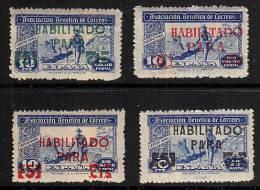 A5143 SPAIN Cartero Rural Overprinted Habilitado - Unused Stamps