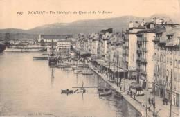 83 TOULON VUE GENERALE DU QUAI ET DE LA DARSE / ANIMEE TRAMWAY / TRAM - Toulon