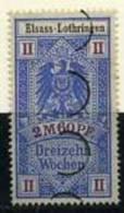 TIMBRES FISCAUX / SOCIO POSTAUX / ALSACE LORRAINE / N° 13A / 13 SEMAINES - Revenue Stamps