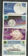 BELIZE. Année Internationale Des Communications. Yv. 646/9 Neufs ** (Satellites & Stations) - Telecom