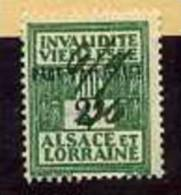 TIMBRES FISCAUX / SOCIO POSTAUX / ALSACE LORRAINE N°107  PART PATRONALE - Revenue Stamps