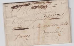 PRECURSEUR - LETTRE 1810 LOUVAIN VERS BRUXELLES GRIFFE MANUSCRITE FRANCO + TEXTE A VOIR - 1794-1814 (French Period)