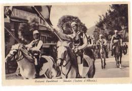 AK ALBANIEN ALBANIA SCHODRA SCUTARI PFERDE OLD POSTCARD FOTOGRAFIE : FOTO JAKOV - Albanie