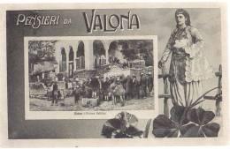 AK ALBANIEN ALBANIA VALONA  FONTANA PUBBLICAOLD POSTCARD 1917 VERIFICATO DI CENSURA - Albanien