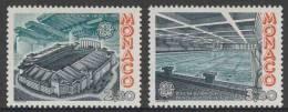 Monaco 1987 Mi 1794 /5 YT 1565 /6 ** Louis II Stadium, Fontvieille + Crown Prince Albert Olympic Swimming Pool, Europa - Monaco