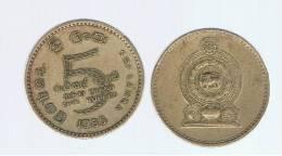 SRI LANKA -    5  Rupia 1986  KM148.2 - Sri Lanka