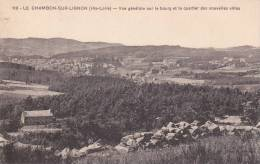 CPA 43  LE CHAMBON Sur LIGNON , Vue Générale Sur Le Bourg Et Quartier Des Nouvelles Villas. (1936) - Le Chambon-sur-Lignon
