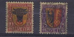 CH 19 - SUISSE Pro Juventute 1918 N° 168/69 Oblitérés - Pro Juventute