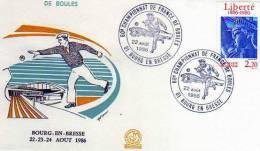 Enveloppe Premier Jour FDC ,60°Championnat De France De Boules BOURG EN BRESSE Aout 1986 - Other