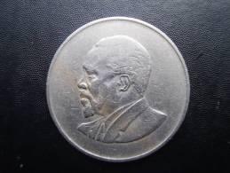 KENYA 1966  ONE SHILLING  KENYATTA Copper-Nickel  USED COIN In GOOD CONDITION. - Kenya
