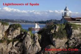 Lighouses Of Spain - Cantabria/La Cerda STICKER Size:15x10 Cm. Aprox. - Lighthouses