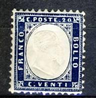 Regno VE 1862 N. 2, Indaco, MH Cat. € 20 - 1861-78 Victor Emmanuel II