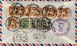 Tientsin China Old Reigistered Express Air Mail Cover Mailed To USA - China