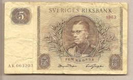 Svezia - Banconota Circolata Da 5 Corone - 1963 - Svezia