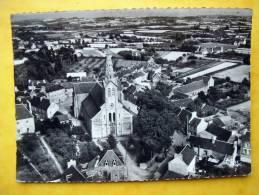 Cpsm 22 PLOUEZEC Vue Aerienne Centre Eglise Voitures Anciennes,commerce - France