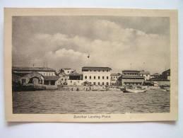 Cpa, Très Belle Vue Animée, Zanzibar Landing Place - Tanzanie